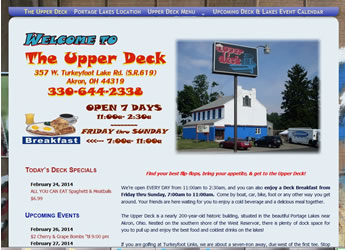 Visit the Upper Deck on the Portage Lakes