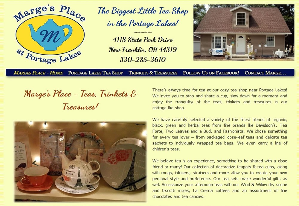 Marges Place - Portage Lakes Tea Shop