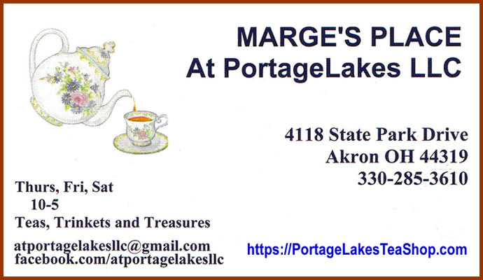 Marges Place - Portage Lakes Tea Shoppe